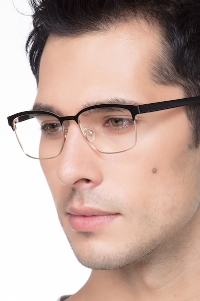 Sublime  Black Golden  Metal Eyeglass Frames for Men from EyeBuyDirect