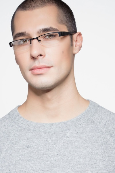 Bud Black Metal Eyeglass Frames for Men from EyeBuyDirect, Front View