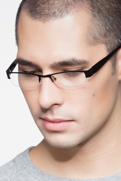 Bud Black Metal Eyeglass Frames for Men from EyeBuyDirect