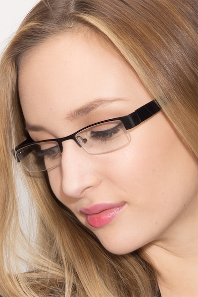 Bud Black Metal Eyeglass Frames for Women from EyeBuyDirect