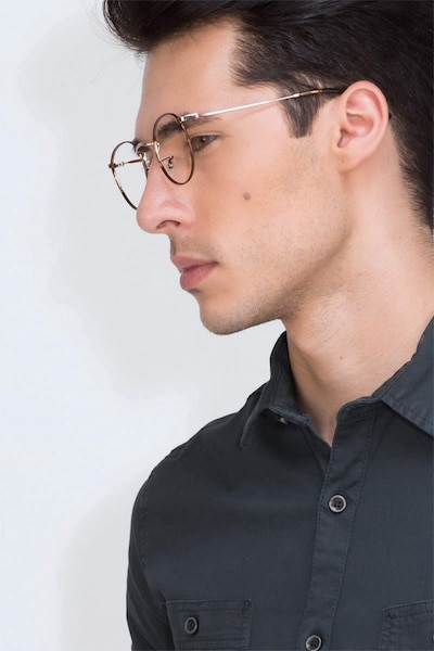 Daydream Brown Golden Metal Eyeglass Frames for Men from EyeBuyDirect