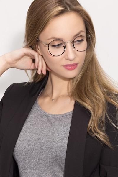 Daydream Black Silver Métal Montures de Lunettes pour Femmes d'EyeBuyDirect, Vue de Face