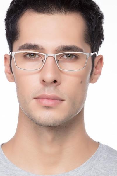 Germantown  Silver  Métal Montures de Lunettes pour Hommes d'EyeBuyDirect, Vue de Face