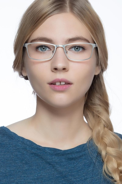 Germantown  Silver  Metal Eyeglass Frames for Women from EyeBuyDirect, Front View