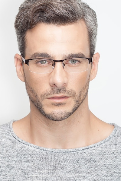 Mark Coffee Metal Eyeglass Frames for Men from EyeBuyDirect