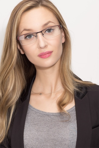 Mark Coffee Metal Eyeglass Frames for Women from EyeBuyDirect, Front View