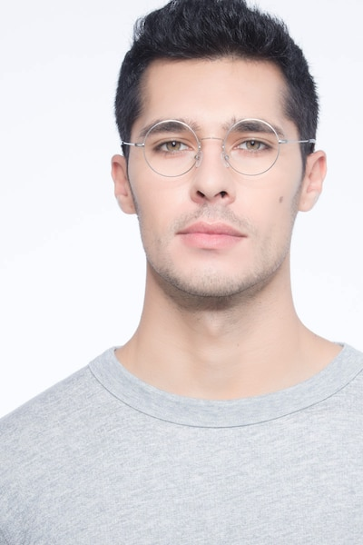Someday Silver Metal Eyeglass Frames for Men from EyeBuyDirect
