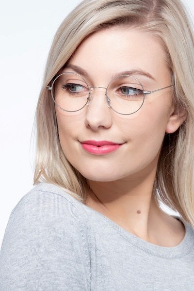 Someday Silver Metal Eyeglass Frames for Women from EyeBuyDirect