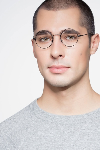 Someday Black Metal Eyeglass Frames for Men from EyeBuyDirect