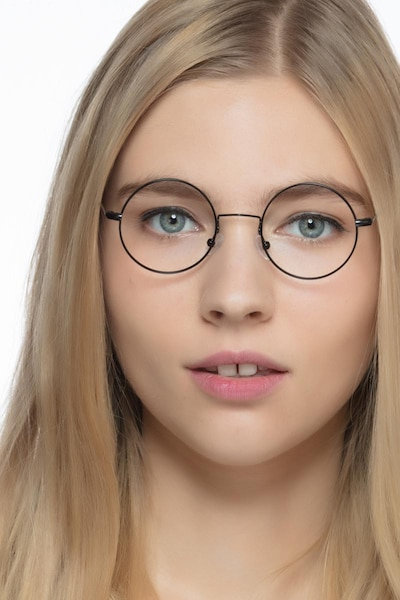 Someday Black Metal Eyeglass Frames for Women from EyeBuyDirect