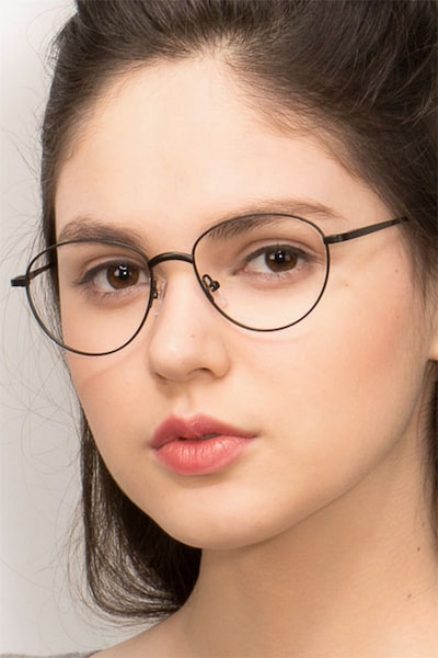 Nara Gunmetal Metal Eyeglass Frames for Women from EyeBuyDirect