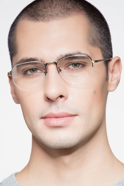Ritual Bronze Metal Eyeglass Frames for Men from EyeBuyDirect