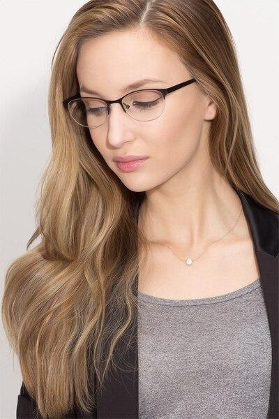 Melody Matte Black Metal Eyeglass Frames for Women from EyeBuyDirect