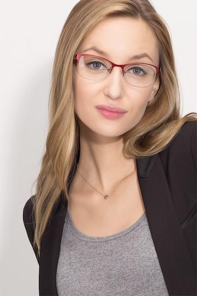 Melody  Red  Métal Montures de Lunettes pour Femmes d'EyeBuyDirect, Vue de Face