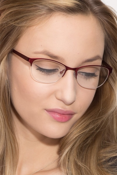 Melody  Red  Metal Eyeglass Frames for Women from EyeBuyDirect