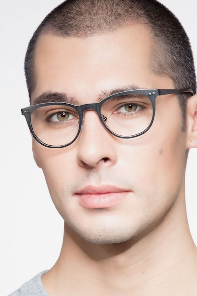 Lyrics Black Metal Eyeglass Frames for Men from EyeBuyDirect