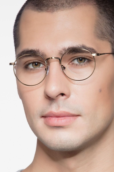 Circus Bronze Metal Eyeglass Frames for Men from EyeBuyDirect