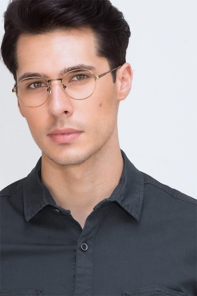 Belleville Bronze Metal Eyeglass Frames for Men from EyeBuyDirect, Front View