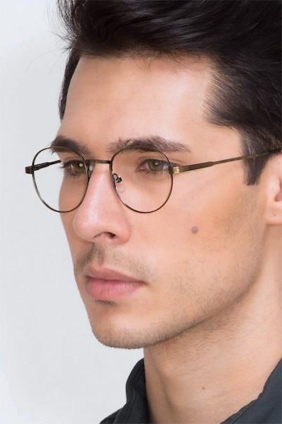 Belleville Bronze Metal Eyeglass Frames for Men from EyeBuyDirect