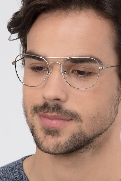 Harrier Gunmetal Metal Eyeglass Frames for Men from EyeBuyDirect