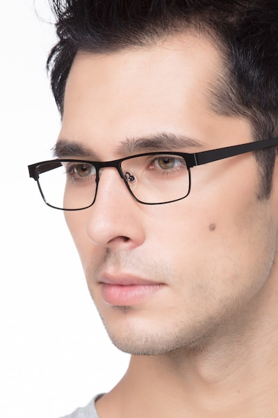 Java Black Metal Eyeglass Frames for Men from EyeBuyDirect