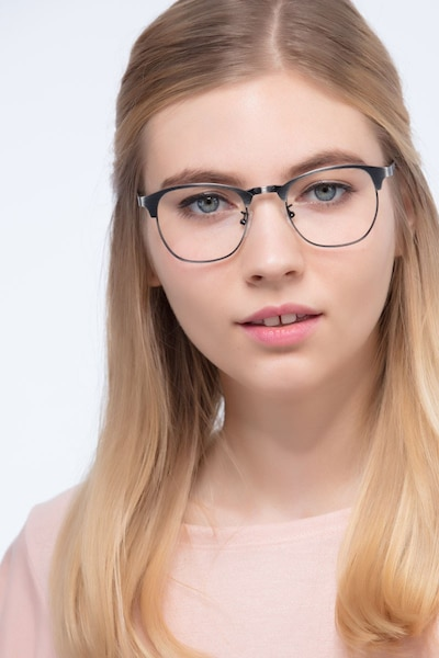 Ferrous Gunmetal Metal Eyeglass Frames for Women from EyeBuyDirect