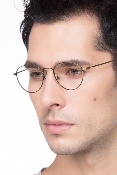 Taipei Bronze Metal Eyeglass Frames for Men from EyeBuyDirect