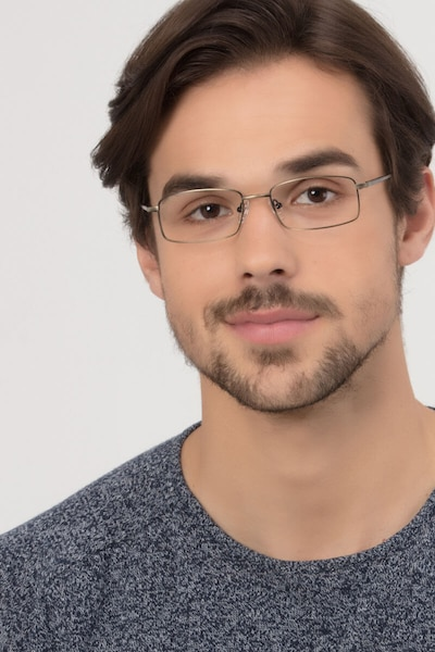 Tab Bronze Metal Eyeglass Frames for Men from EyeBuyDirect, Front View