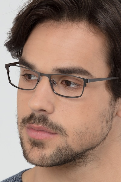Germantown Gunmetal Metal Eyeglass Frames for Men from EyeBuyDirect