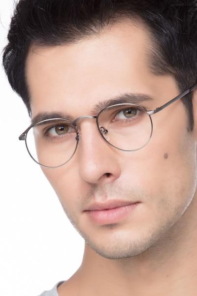 Pensive Gunmetal Metal Eyeglass Frames for Men from EyeBuyDirect