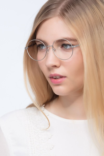 Inscription Silver Metal Eyeglass Frames for Women from EyeBuyDirect