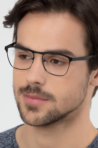 Foundry Black Metal Eyeglass Frames for Men from EyeBuyDirect