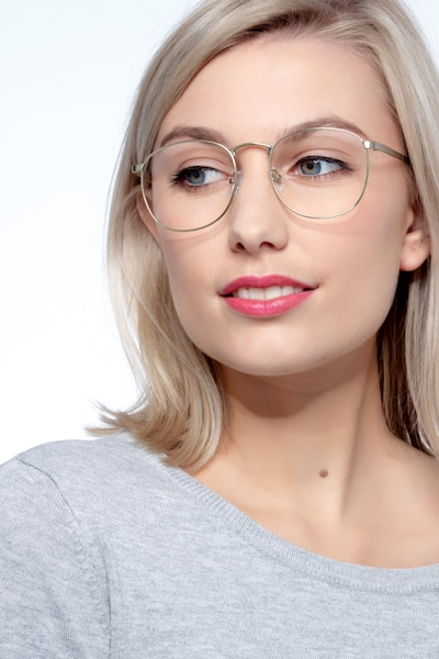 St Michel Bronze Metal Eyeglass Frames for Women from EyeBuyDirect
