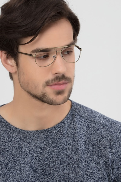 Discover Bronze Metal Eyeglass Frames for Men from EyeBuyDirect, Front View