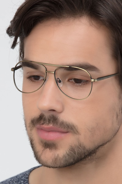 Discover Bronze Metal Eyeglass Frames for Men from EyeBuyDirect