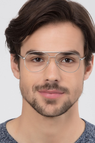 Discover Matte Silver Metal Eyeglass Frames for Men from EyeBuyDirect