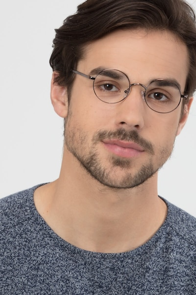 Socrates Brown Tortoise Metal Eyeglass Frames for Men from EyeBuyDirect, Front View