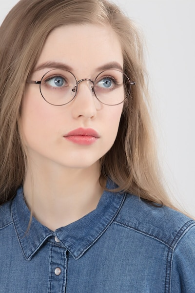 Socrates Brown Tortoise Metal Eyeglass Frames for Women from EyeBuyDirect, Front View