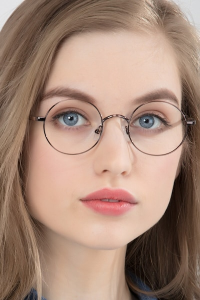 Socrates Brown Tortoise Metal Eyeglass Frames for Women from EyeBuyDirect