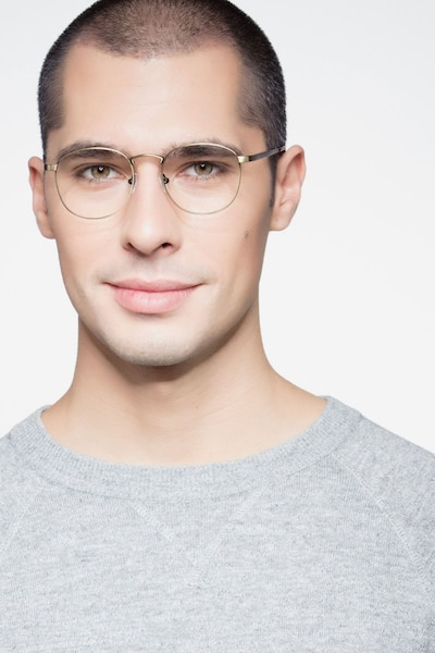 St Michel Bronze Metal Eyeglass Frames for Men from EyeBuyDirect, Front View