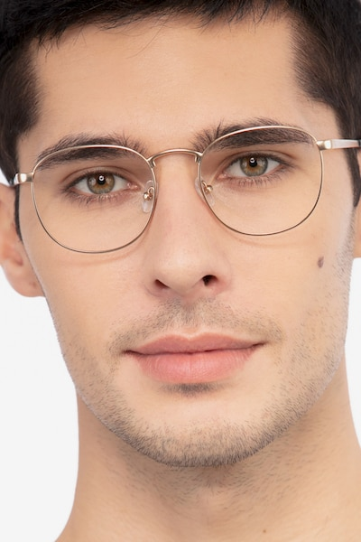 St Michel Golden Metal Eyeglass Frames for Men from EyeBuyDirect