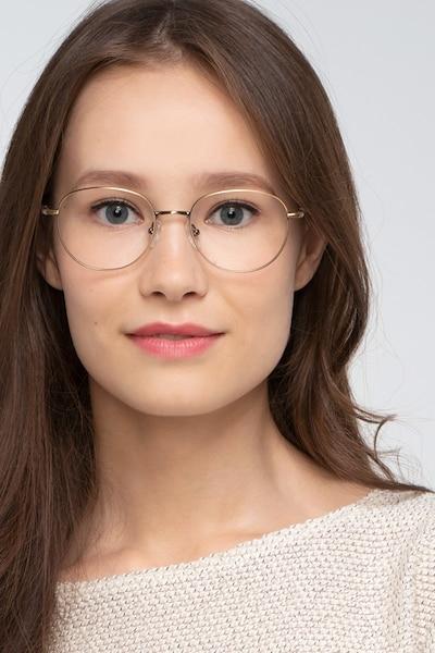Pensieve Bronze Métal Montures de Lunette de vue pour Femmes d'EyeBuyDirect, Vue de Face