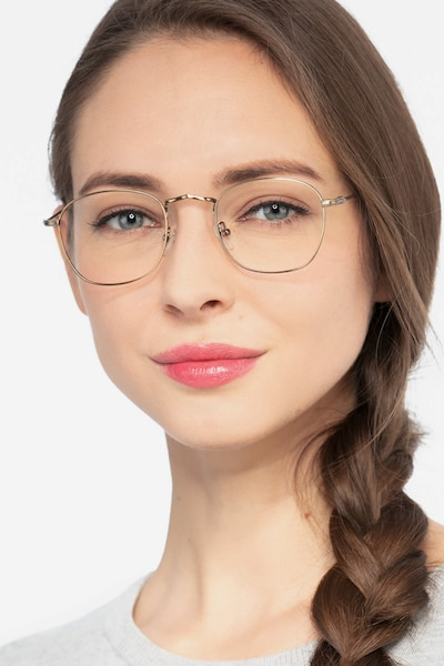 Sonder Bronze Metal Eyeglass Frames for Women from EyeBuyDirect