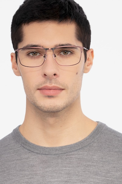 Typha Red Metal Eyeglass Frames for Men from EyeBuyDirect, Front View