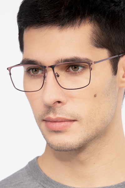 Typha Red Metal Eyeglass Frames for Men from EyeBuyDirect