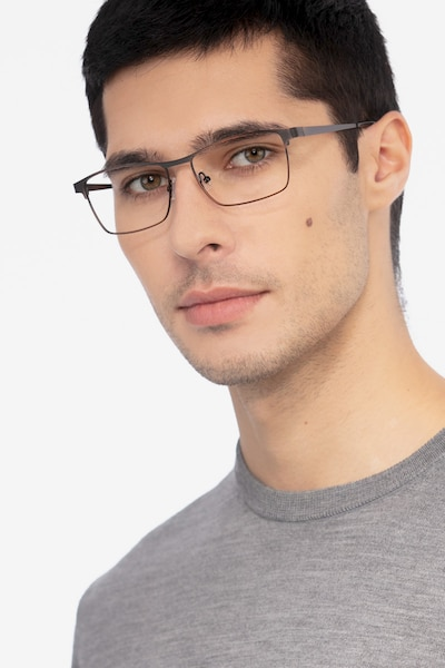 Caliber Brown Metal Eyeglass Frames for Men from EyeBuyDirect