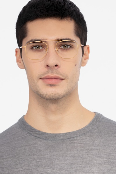 Cordon Golden Metal Eyeglass Frames for Men from EyeBuyDirect, Front View