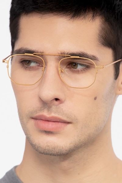 Cordon Golden Metal Eyeglass Frames for Men from EyeBuyDirect