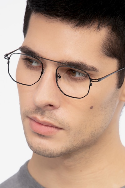 Cordon Black Metal Eyeglass Frames for Men from EyeBuyDirect