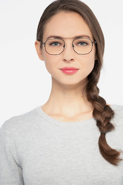 Cordon Black Metal Eyeglass Frames for Women from EyeBuyDirect